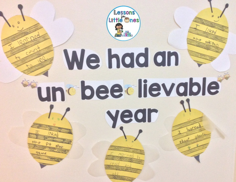 "End of the Year Bulletin Board, Pattern - We Had an ""Un-bee-lievable"" Year!"